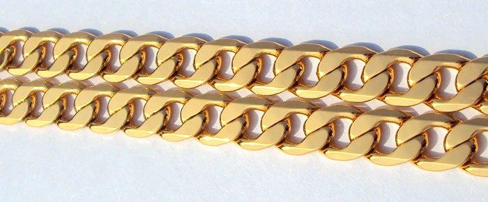 Κλασικό ανδρικό της ΙΤΑΛΙΑΣ Curb - Κοσμήματα μόδας - Φωτογραφία 4