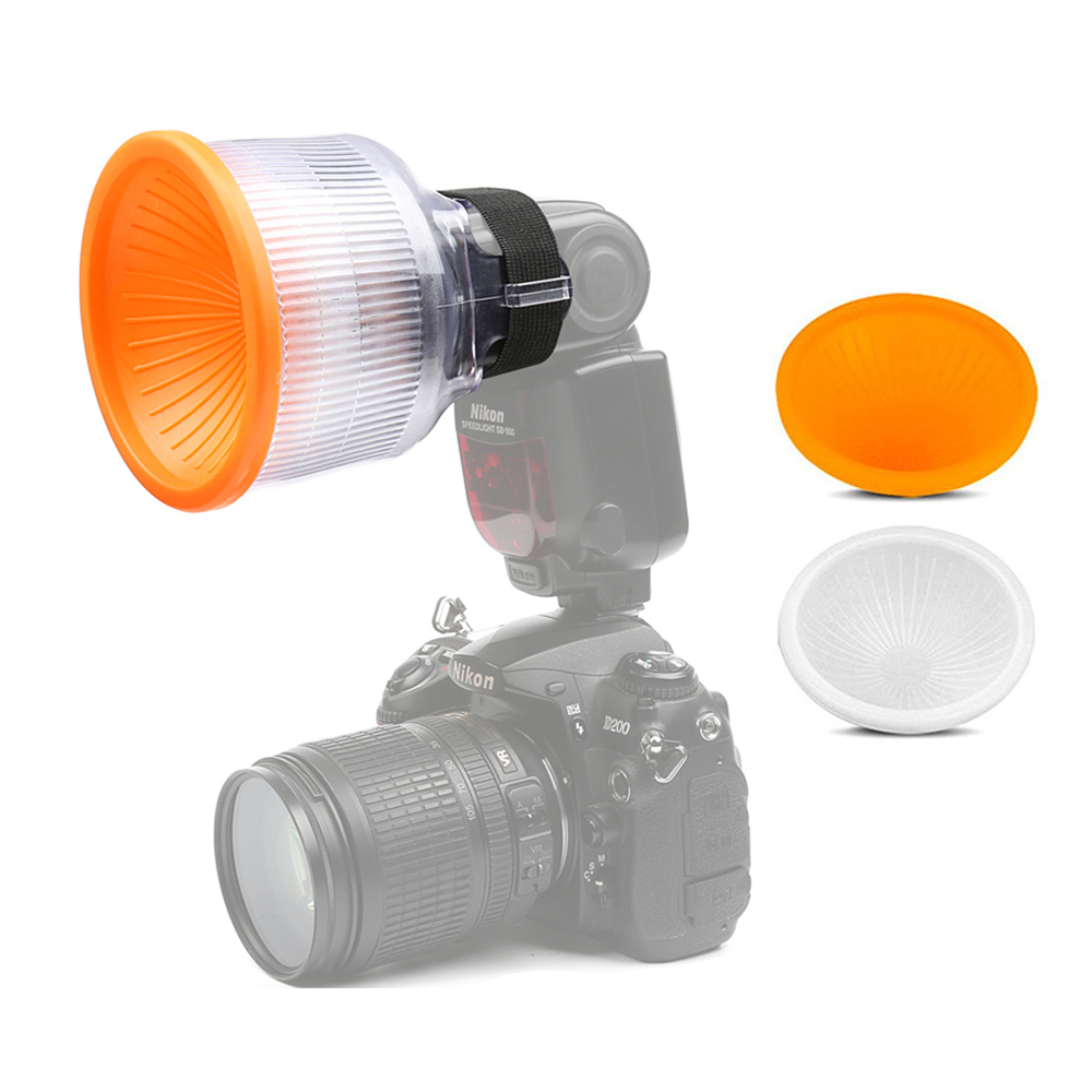 Universal Lambancy Dome Flash Diffuser for Canon 430EX 550EX 600EX Nikon SB600 SB700 Sony A6000 White Orange Cloud Covers in Flash Diffuser from Consumer Electronics
