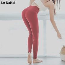 High Waist Tummy Control Yoga Pants Red wide waistband Stretch workout yoga leggings Plus size fitness skinny gym leggings