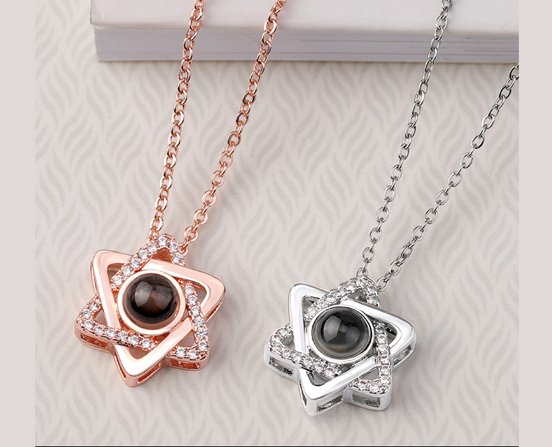 HTB1GiX4ayzxK1RjSspjq6AS.pXaF - Rose Gold&Silver 100 languages I love you Projection Pendant Necklace Romantic Love Memory Wedding Necklace