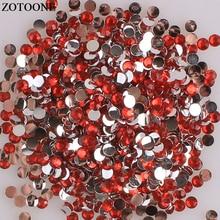 ZOTOONE Flatback Crystals For Crafts Glue On Red Rhinestones Phone DIY Non Hotfix  Resin Rhinestone Nail Art Decorations E