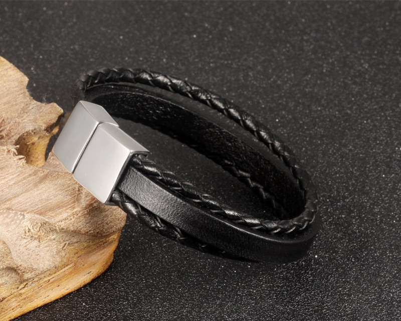 HTB1GiXDKFXXXXc4XpXXq6xXFXXXm - Casual Braided and Smooth Leather Style Bracelet