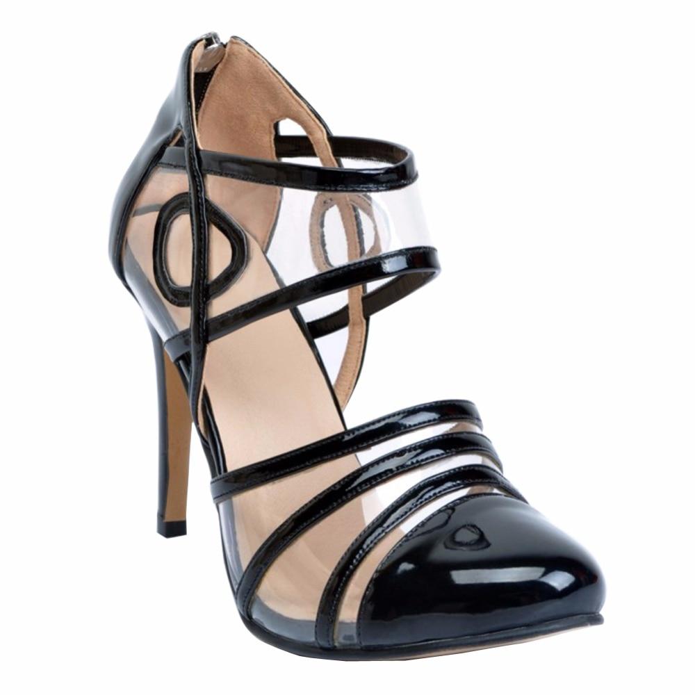 Womens Fashion Handmade 10cm Cap-toe Zipper High Heel Party Stiletto Pumps Shoes XD084 denim zipper hollow worn stiletto womens sandals
