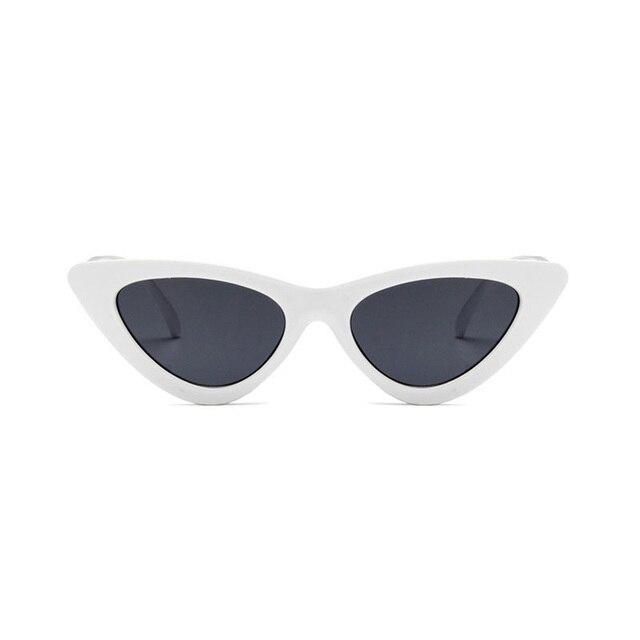 cad1eae7f74af Sunglasses cute sexy retro cat s eye sunglasses women small black white  2018 triangle vintage cheap sun glasses red female uv400