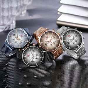 Image 5 - ミニフォーカストップ高級クロノグラフメンズスポーツ腕時計男性クォーツアナログ日付時計男性ステンレス鋼ストラップ腕時計