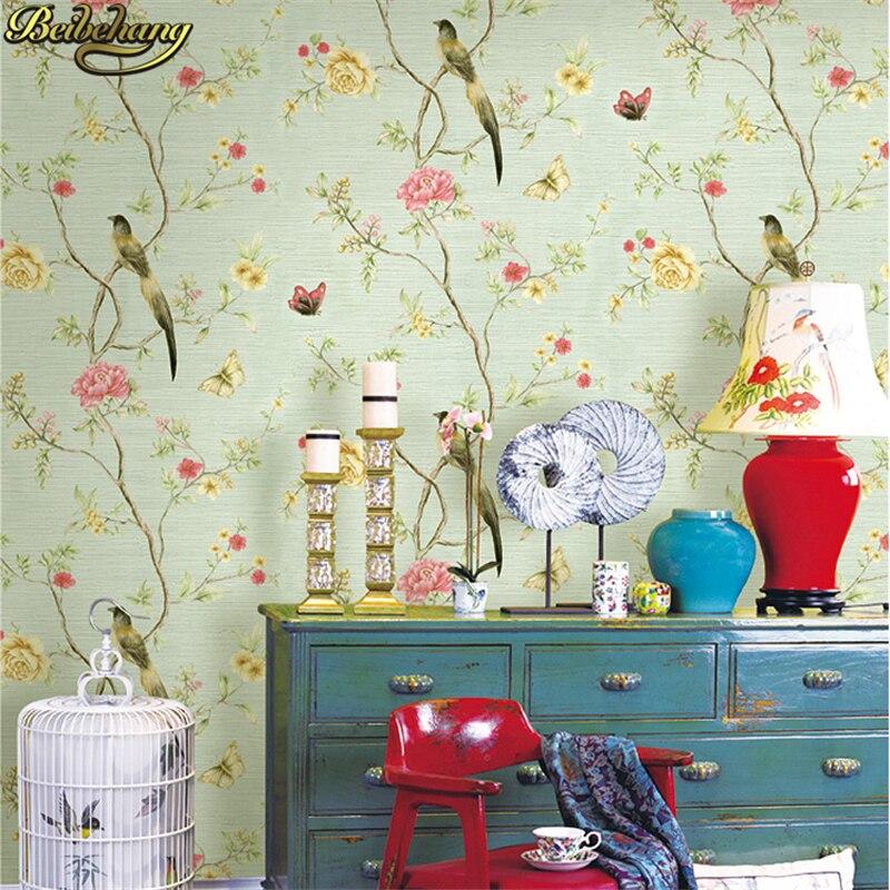 Beibehang mur papier 3D fleur romantique floral Non Tissé flocage papier peint pour chambre salon filles chambre décoration