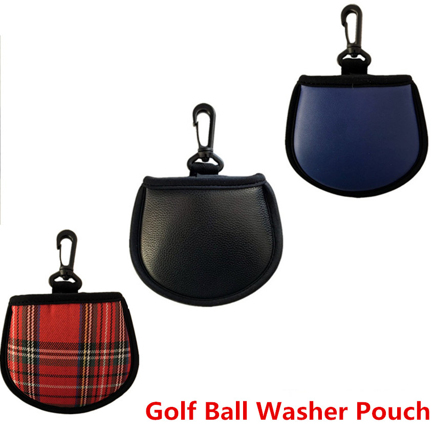 Golf Ball Washer Pouch Bag Clip Hook To Bag Belt Valuables Golf Balls Blue Black Colors Fit Men Women Kids Hot Sale Finger Ten