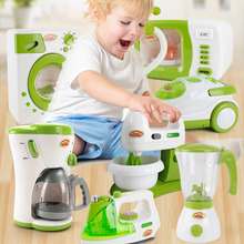 Simulation small appliances multi-function vacuum cleaner coffee bread machine children imitation toys for baby gifts new appliances children s puzzle play house kitchen toys multi function vacuum cleaner electric iron juice machine play kitchen