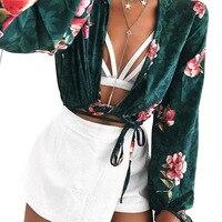 Viven Leigh 2018 Summer Casual Blouse Sexy Women Off Shoulder Shirts Long Sleeve Shirt Flower Print