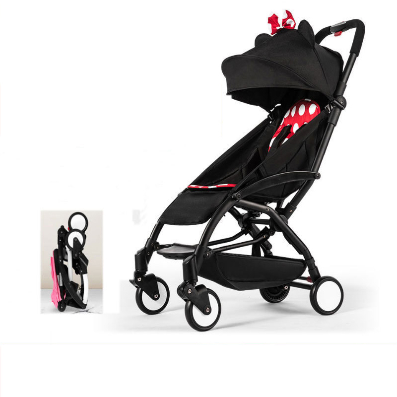 Lightweight baby stroller folding convenient travel newborn baby pram aluminum alloy child carriage m rondeau a newborn child