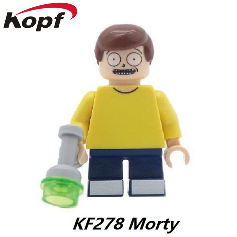 Single Sale Super Heroes Rick And Morty Model Bricks Action Figures Building Blocks Education Toys for children KF278 single building blocks kits ninja pythor kozu lloyd zane nya figures super heroes star wars model bricks kids toys hobbies x0143