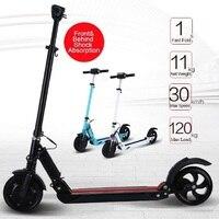 2018 Новый электрический скутер 8 дюймов мощный двигатель колеса самокат складной электрический велосипед скутеры для взрослых