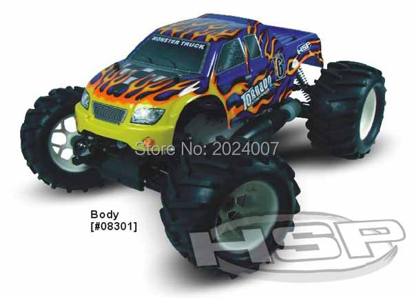 RC CAR TOYS HSP TORNANO 1/8 SCALE PROFESSIONAL NITRO MONSTER TRUCK (ITEM NO. 94083) - GLO STARTER NOT INCLUDED bosch 1600 a 00159
