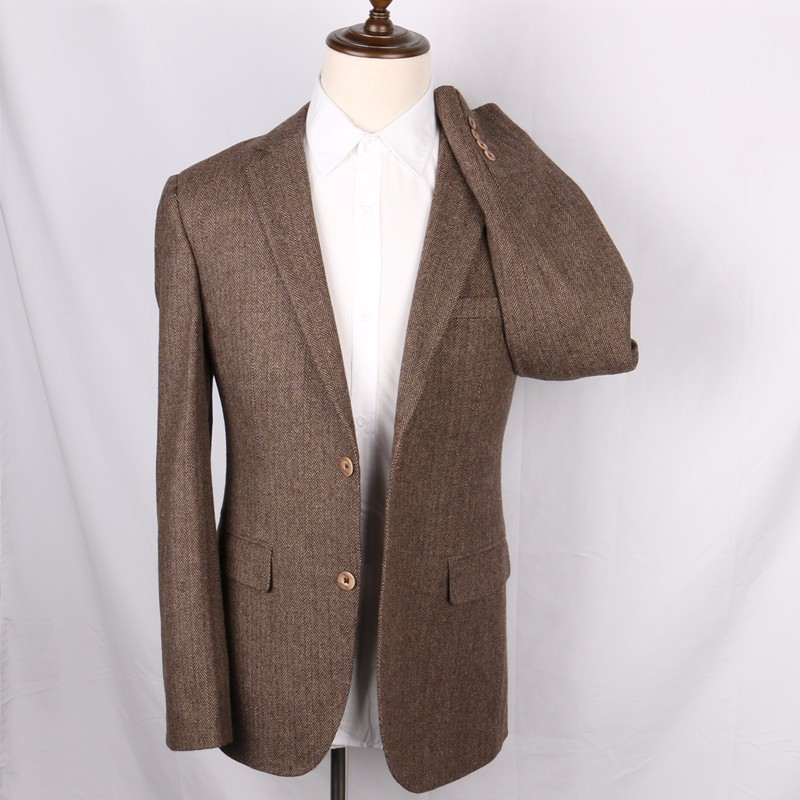 Wool-Brown-Herringbone-Suit-Jacket-Vintage-Style-Mens-Slim-Fit-Tweed-Check-Blazer-Jackets-2-Button-Long-Designer-Mens-Wedding-Wear(3)