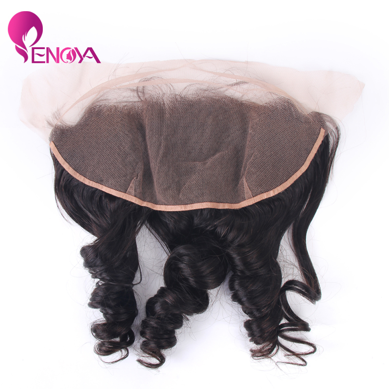 (US Stock) Enoya Hair Peruvian Virgin Hair Loose Wave Frontal 13X4 Freestyle Lace Front