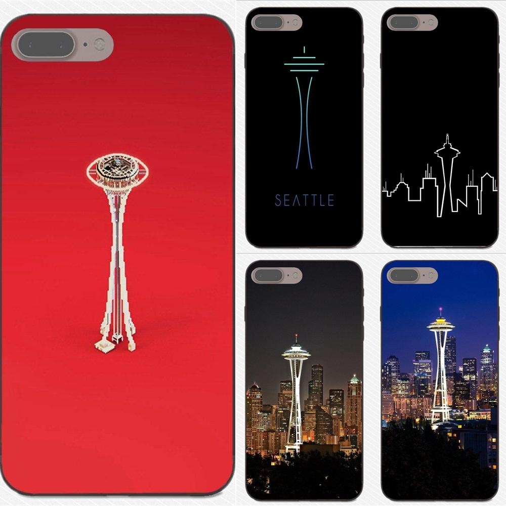 For Apple iPhone 4 4S 5 5S SE 6 6S 7 8 Plus X XS Max XR High Quality Classic Phone Accessories Case Seattle Space Needle image