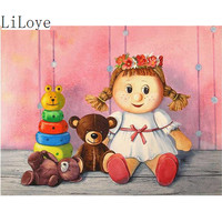 Li Loye Square Diamond Painting Toy Doll Bear Diamond Mosaic The Embroidery Decor Handicraft Embroidery Diamond