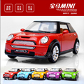 New Hot Sell1:36 Scale Mini Cooper Alloy Diecast Car Model Pull Back Toy Cars Electronic Car with light&sound Kids Toys Gifts