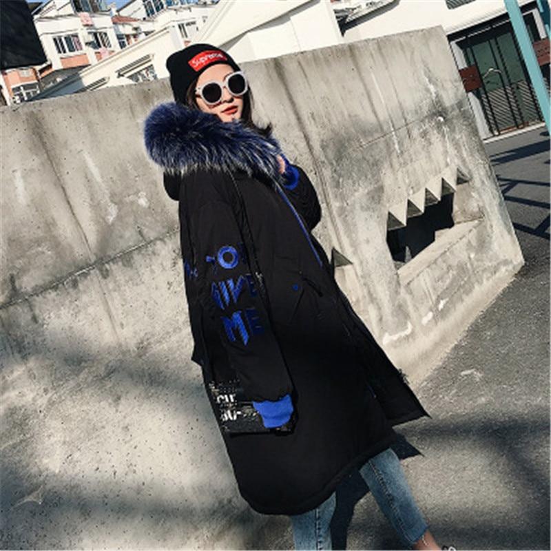 Vers Laveur De Parker Collier Sx37 Black Grande 2018 Femmes Survêtement Broderie Omlesa Épais Lâche Le white Nouvelles Extérieur Fourrure Longue Bas Veste Manteau Raton D'hiver 8wqtgZd