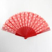 2017 Hand Held Fan Ladies Bamboo Folding Fan Ms FDan Dance Plastic Making GYS909 2