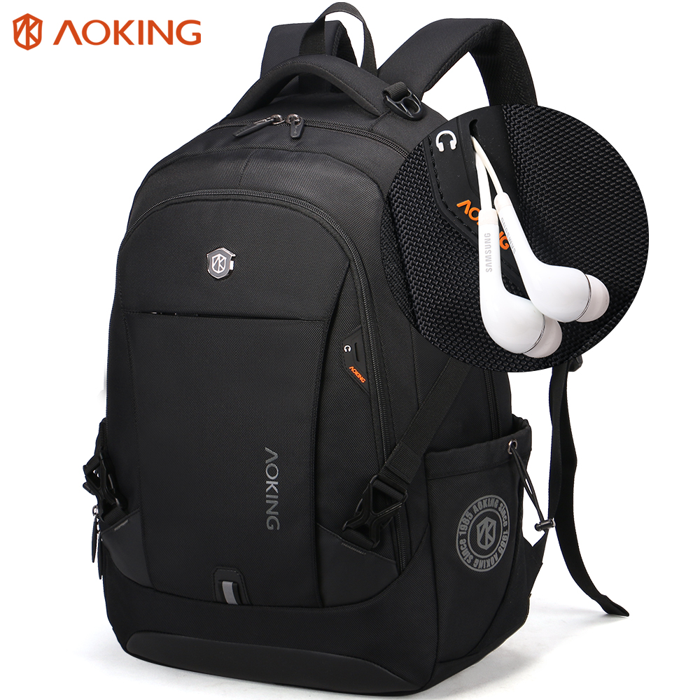Aoking Unisex Light Backpack College College Skole Rygsæk Tasker til Teenager Fritid Mochila Casual Rygsæk Leisure Daypack