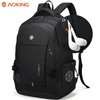 Aoking Brand Laptop Backpack Men S Travel Waterproof Backpack Nylon School Bags For Teenagers Male Solid