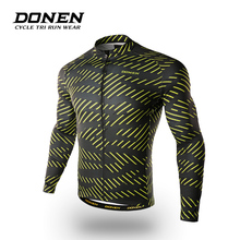 DONEN Winter Fleece Cycling Jackets Winter Windproof Long Sleeve Bike Clothes Roupa De Ciclismo Hombre MTB Bicycle Clothing