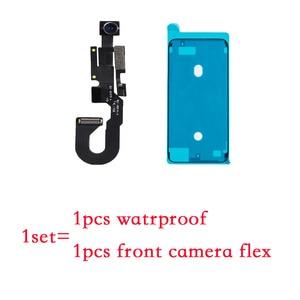 Image 2 - פנים מול מצלמה עם חיישן קרבה אור ומיקרופון להגמיש כבל + עמיד למים מדבקה עבור iPhone 7 7 בתוספת