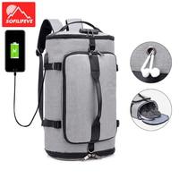 USB Anti theft Gym Bag backpack Male Fitness Shoulder Bag for Men Training Sports Tas Travel Sac De Sport Outdoor Laptop Sack