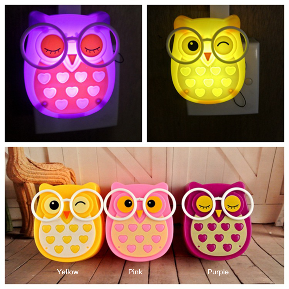 Aliexpress Com Buy Cute Owl Night Light Led Animalauto