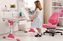 Liftable kids learing desk  sudents learning desk or table and chairs set