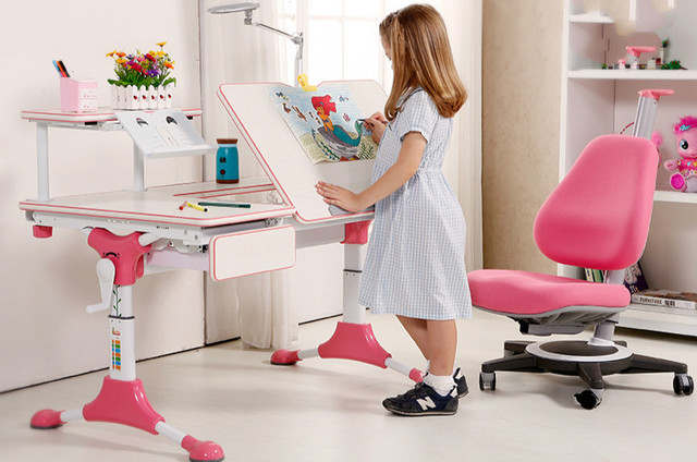 Liftable Kids Learing Desk Sudents Learning Desk Or Table And Chairs - Liftable table