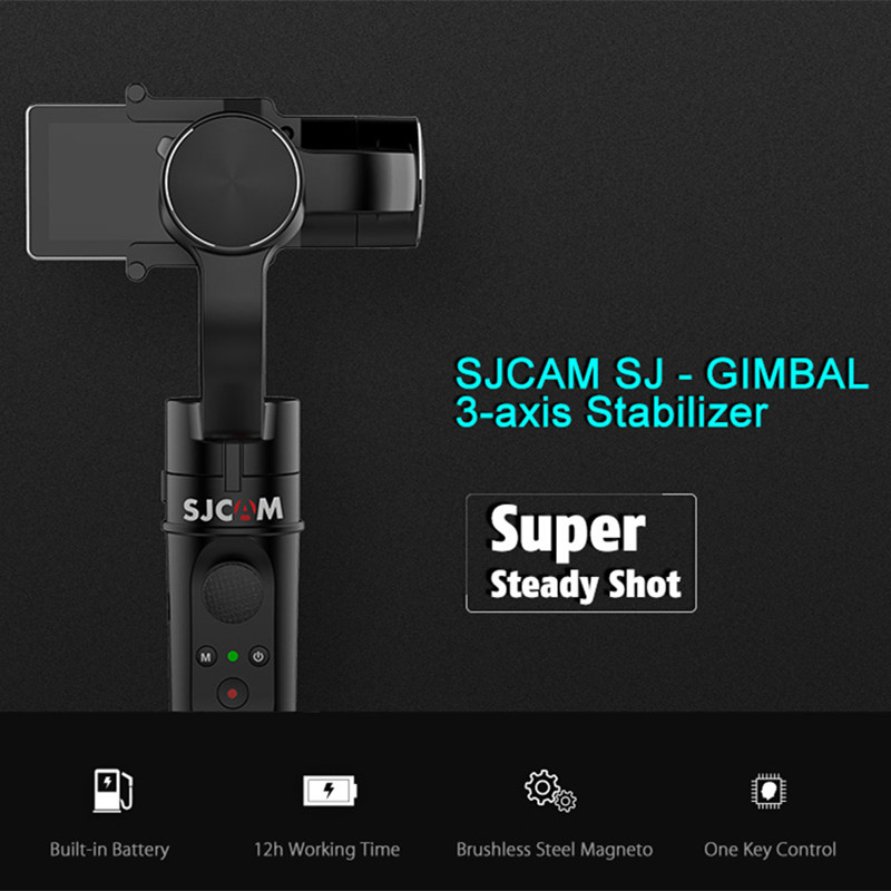 Original SJCAM Handheld GIMBAL SJ-Gimbal 3 Axis Stabilizer for SJ6 Legend SJ7 Star Action Camera new arrive sjcam sj7 star sj6 legend accessies 3 axis handheld gimbal for sjcam sj6 sj7 star wifi series cam