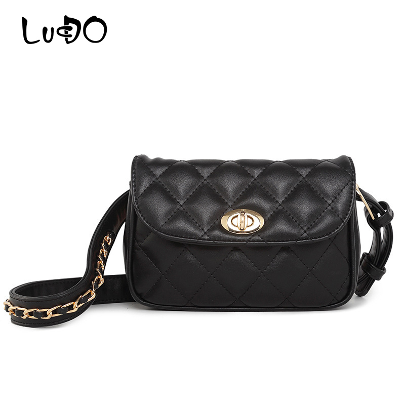 LUCDO Fashion PU Leather Women Waist Packs Casual Belt Bags Luxury Famous Brand Bags Fanny Pack Money Bag For Mobile Heuptas