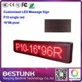 Программируемый из светодиодов сообщение знак p10 из светодиодов для 16 * 96 пикселей один красный из светодиодов движущихся знак текст кроссовки из светодиодов экран рекламный щит