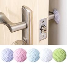 Almohadilla de goma suave para proteger la pared, Tope de puerta autoadhesivo, adhesivos de guardabarros para puerta de modelado de Golf (Blanco/azul/rosa/Verde/púrpura)