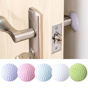 Miękka podkładka gumowa chroniąca ścianę samoprzylepny ogranicznik do drzwi w stylu piłki golfowej naklejki na drzwi Fender (biały niebieski różowy zielony fioletowy) tanie i dobre opinie CN (pochodzenie) Brama zatrzymuje Round Golf Styling Door stopper 5 cm As picture shown please allow a little color difference
