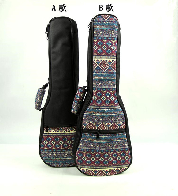Design 21 23 24 26inch soprano concert tenor ukulele bag backpack case soft gig padded pattern creative gifts for kids girl boy