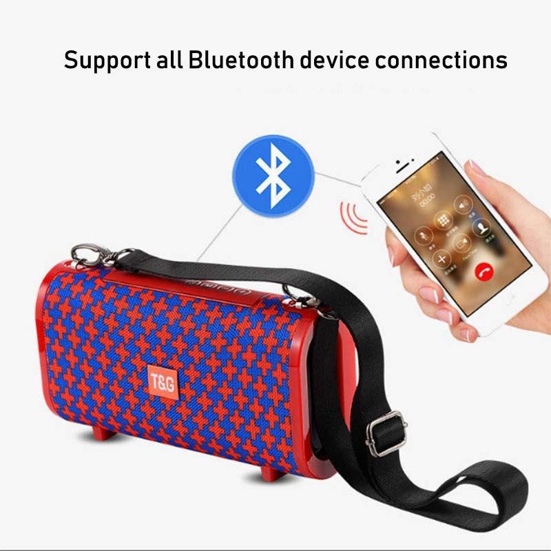 TG123 Waterproof Wireless Bluetooth 4.2 Speaker Super Bass Subwoofer Outdoor Sound Box FM Portable Stereo Speaker + 16G TF Card-in Portable Speakers from Consumer Electronics