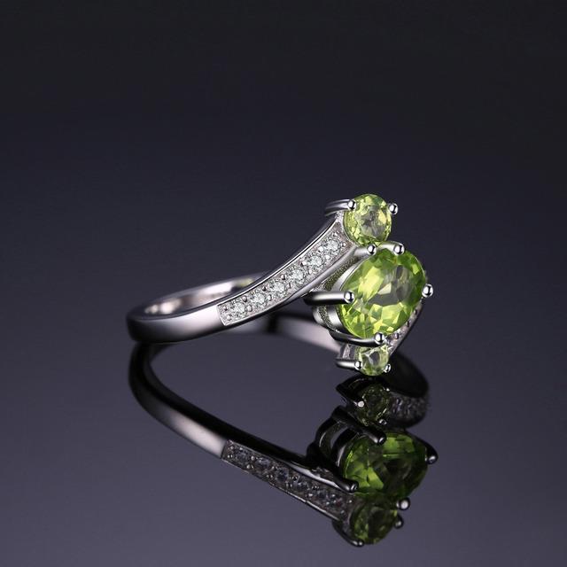 Natural Peridot Gemstone Ring