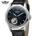 2018 топ-бренд Winner Blue Океанский геометрический дизайн  прозрачные скелетоны  мужские часы  Роскошные автоматические Модные механические часы