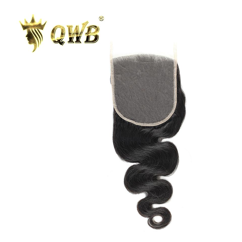 QWB Queen Weave Beauty Free shipping 5x5 Body Wave 12 14 16 18 Brazilian Virgin Hair