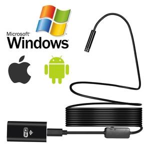Image 3 - USAFEQLO 1200P 2MP WIFI Endoskop Kamera Mini Wasserdicht Harte Kabel Inspektion Kamera 8mm 3in1 Android Endoskop IOS Für iphone