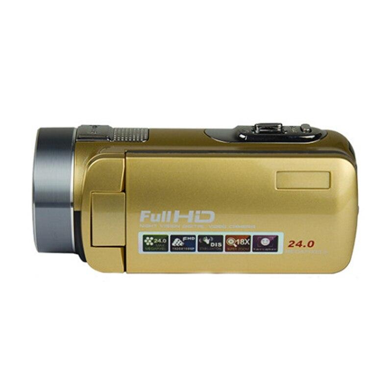 Full 1080 p haute définition enregistrement vidéo caméscope Portable professionnel caméra numérique vidéo avec Vision nocturne plus éloignée