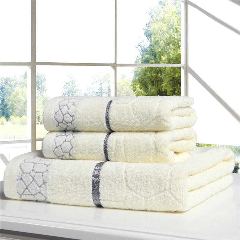 hot sale 3pieces cotton towel set hand face towels bathroom bath towel for adults