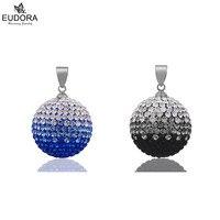 2017 New Top Quality Jewelry Gradual Change Shiny Full Crystal Chime Ball Pendants Eudora Harmony Bola Pendant For Pregnant