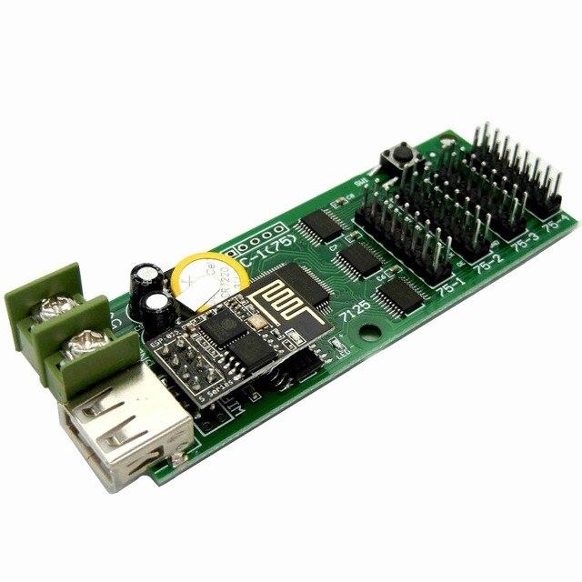 Carte de contrôle USB pleine couleur | 544x48 pixels, carte de contrôle USB, affichage des applications wifi/android, moniteur asynchronique avec 4 * hub75b