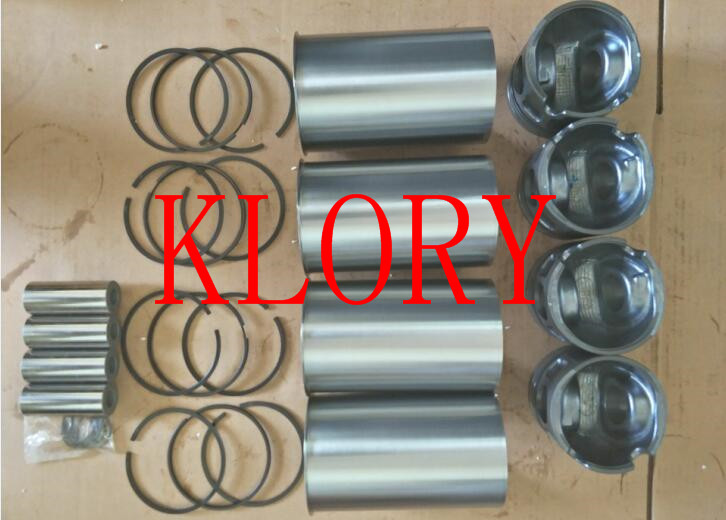 Four matching (Cylinder Liner Piston ring piston pin) for great wall HAVAL H3 H5 4G63 engine changchai l22 repair kit the piston liner piston pin piston rings etc