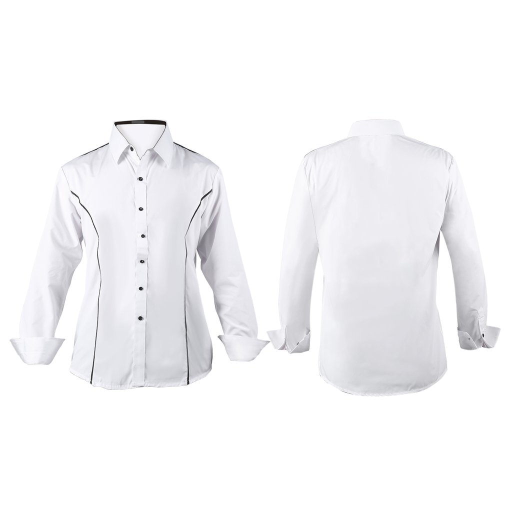 Jampelle Men Long Sleeve Solid white Shirts Clothes Male Casual Slim Fit Dress Shirts camisa social masculina imported clothings