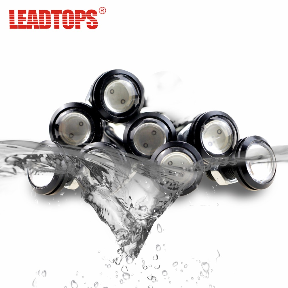 LEADTOPS 2Pcs 23mm Eagle Eye LED Car DRL Fog Daytime Running Light Automobiles Accessoires 12V For Mazda/Audi/Toyota/Honda/VW DJ leadtops led daytime running light 2pcs 100% cob chip led diy drl fog car lights car day lamp 12v for audi vw toyota mazda be